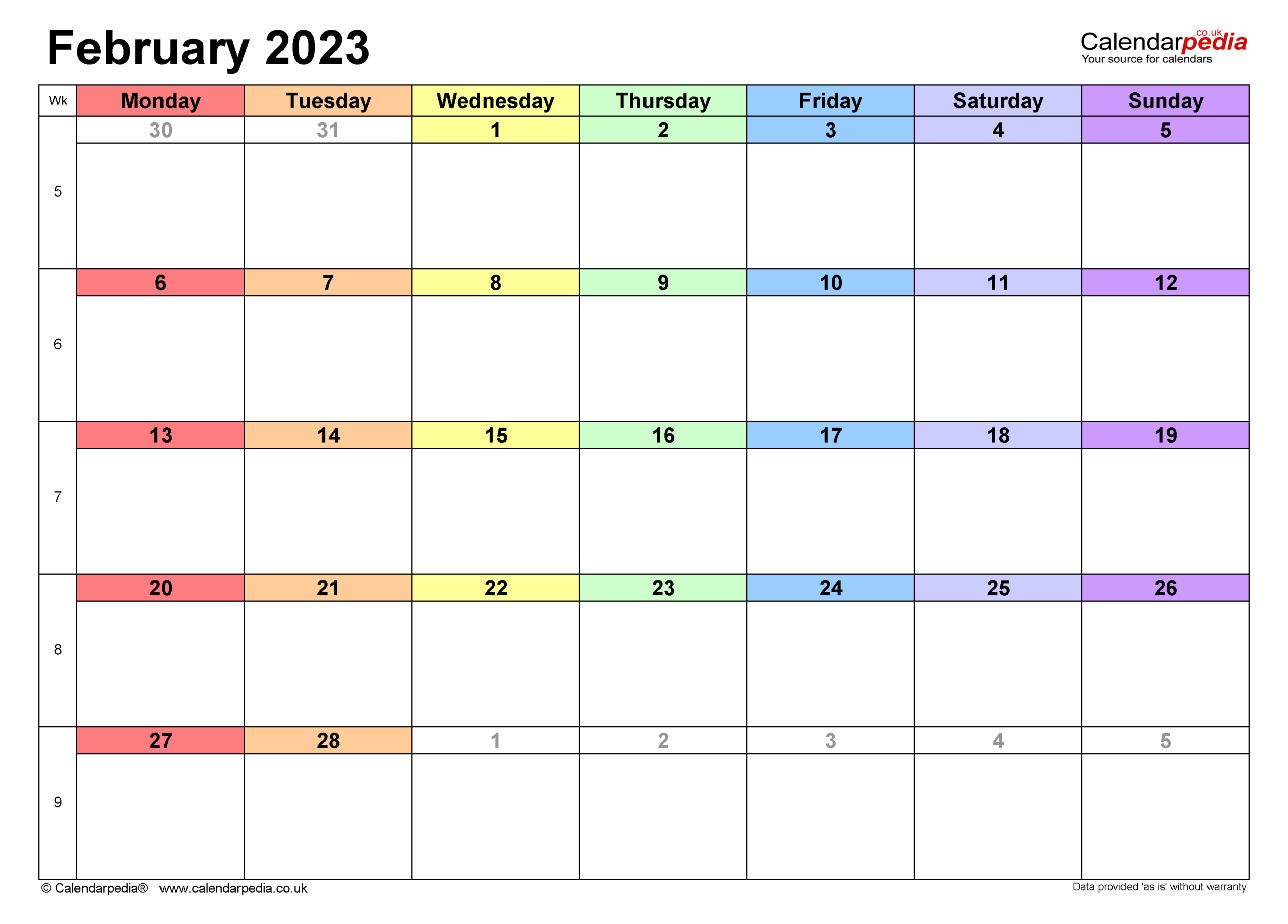 Calendar February 2023 (Uk) With Excel, Word And Pdf Templates with regard to Walmart 2022 2023 Fiscal Calendar