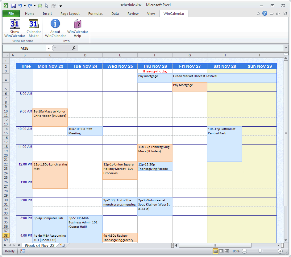 Calendar Maker & Calendar Creator For Word And Excel in Formate Excell To Calendar