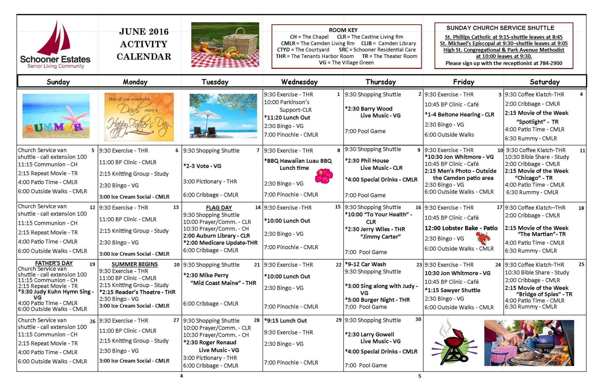 Calendar Of Events inside Assisted Living Facility Activity Calendar
