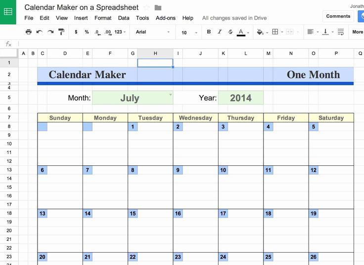 Calendar Template Google Docs Spreadsheet Unique Google with regard to Excel Convert To Calendar