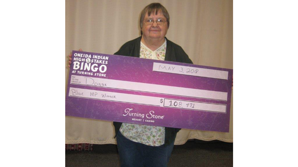 Canastota Woman Wins More Than $100K Playing Bingo At Turning Stone in Turning Stone Bingo Games For Oct.24