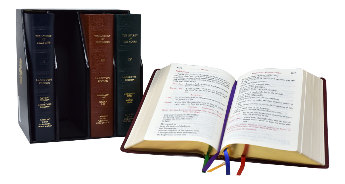 Catholic Book Publishing - Liturgy Of The Hours (Set Of 4) Large Print Leather pertaining to Liturgy Of The Hours Printable