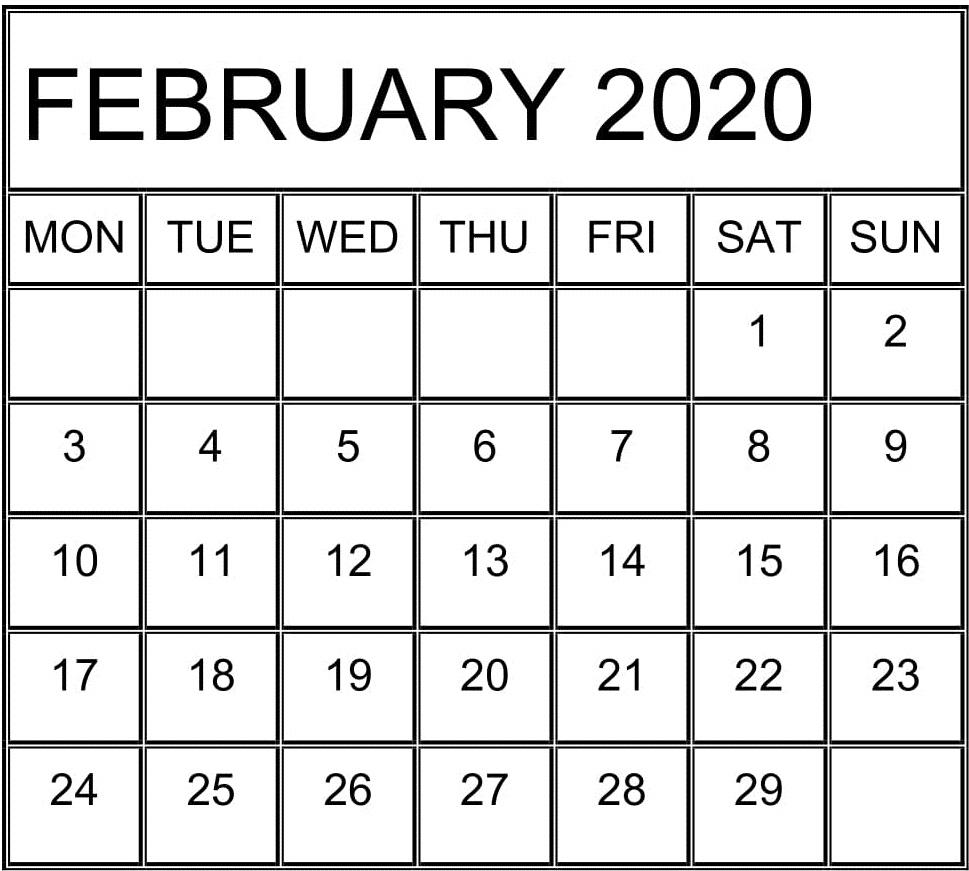 Catholic Calendar February 2020   Free Printable Calendar inside Are Daily Holiday Calendars Copyright