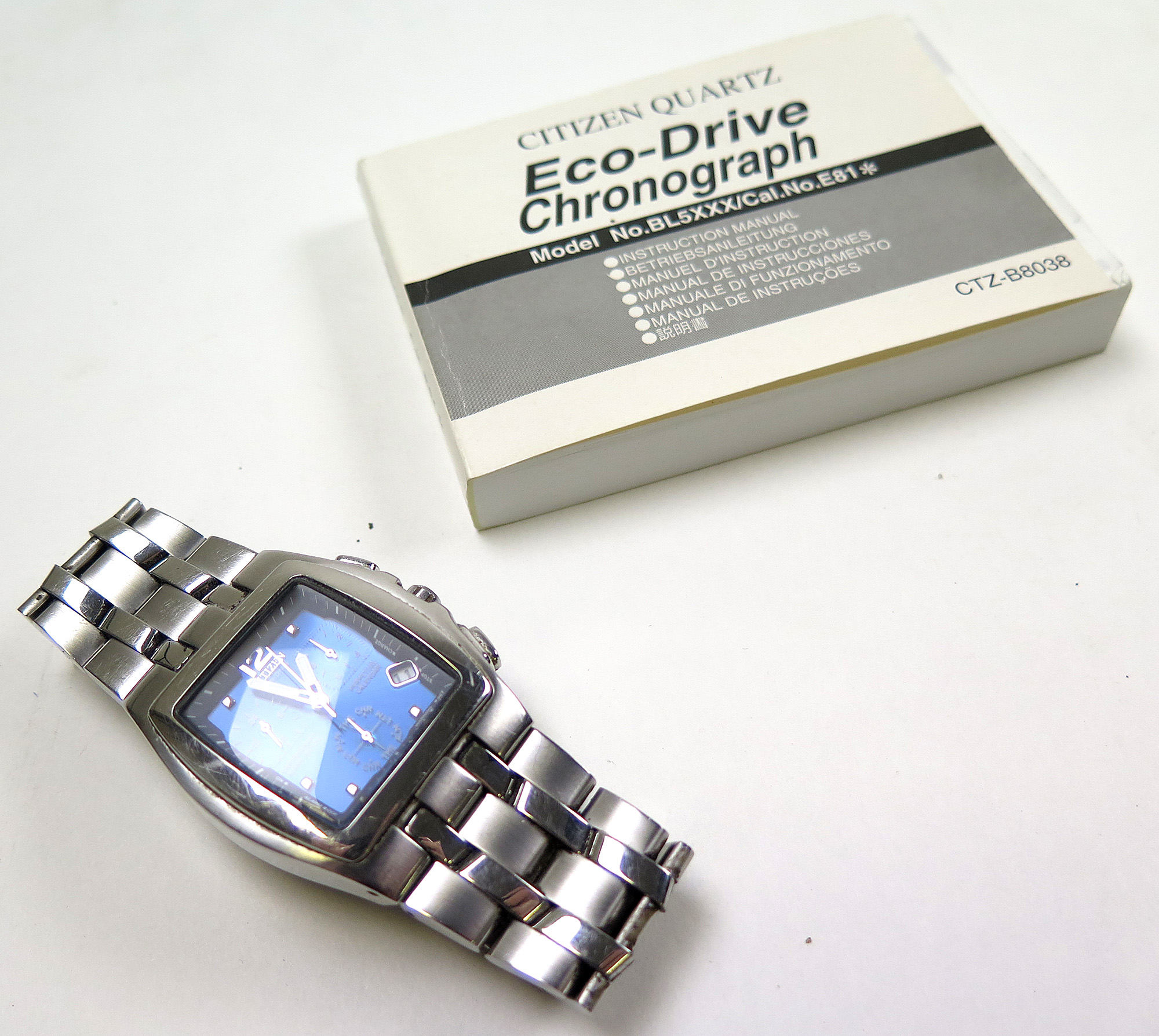 Citizen Eco Drive Chronograph Wr100 Gents Wristwatch, The with regard to Citizen Eco Drive Chronograph Wr100 Manual