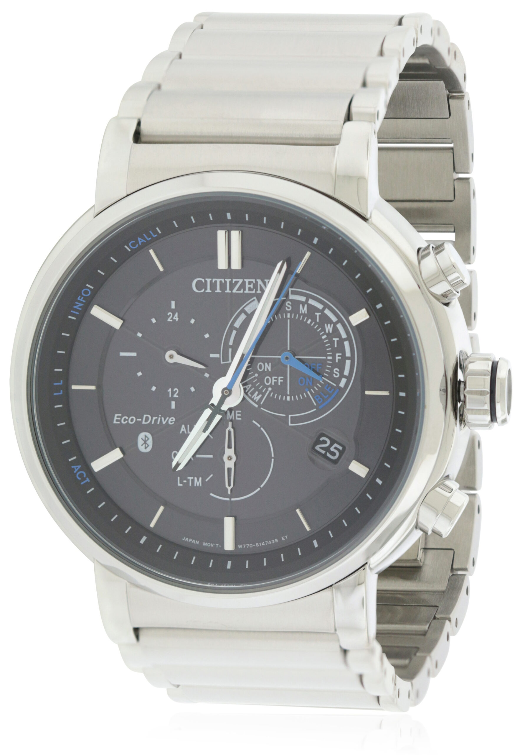 Citizen Eco-Drive Proximity Chronograph Perpetual Mens within Citizen Eco Drive Chronograph Wr100 Manual