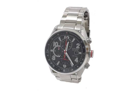 Citizen Eco-Drive Wr 100 Chronograph Stainless Steel intended for Citizen Eco Drive Chronograph Wr100 Manual