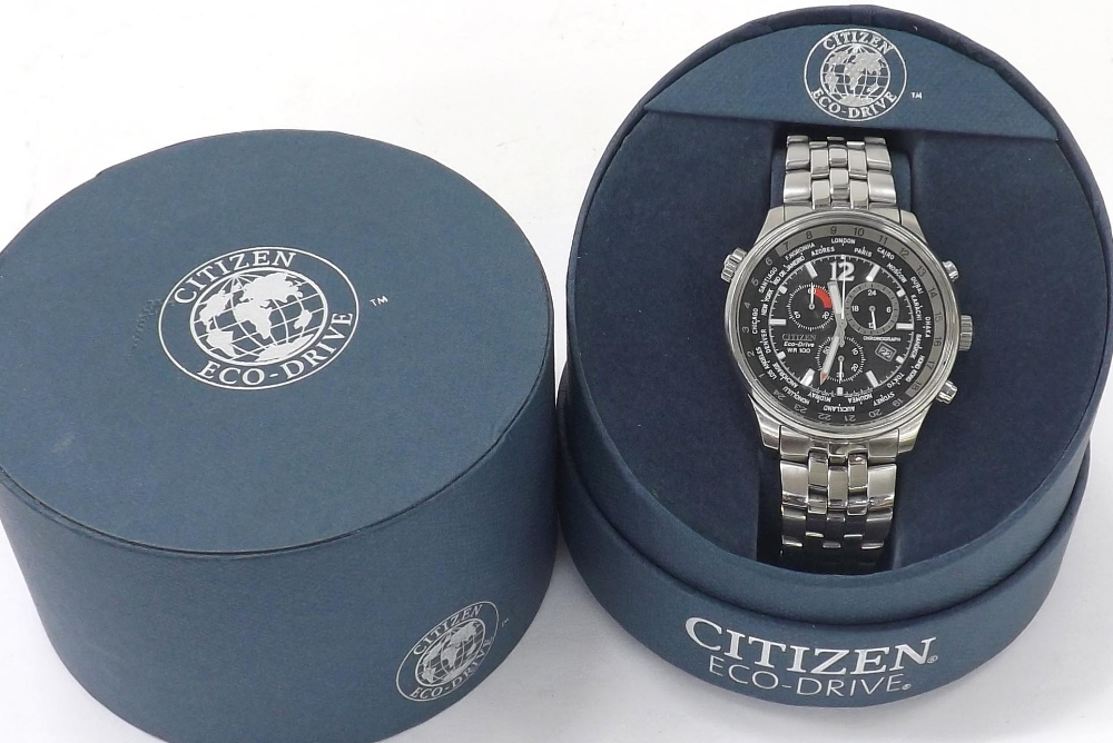 Citizen Eco-Drive Wr100 Chronograph Stainless Steel with Citizen Eco Drive Chronograph Wr100 Manual