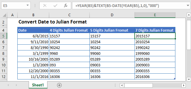 Convert Date To Julian Format In Excel & Google Sheets pertaining to Excel Convert To Calendar