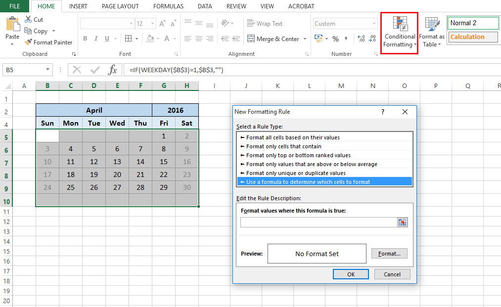 Date Functions : Excel Calendar (Part 2) - Change This Limited intended for Excel Convert To Calendar
