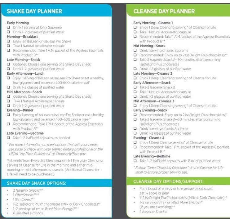 Day Planner | Isagenix, Isagenix 30 Day Cleanse, Isagenix throughout Isagenix 30 Day Schedule Pdf