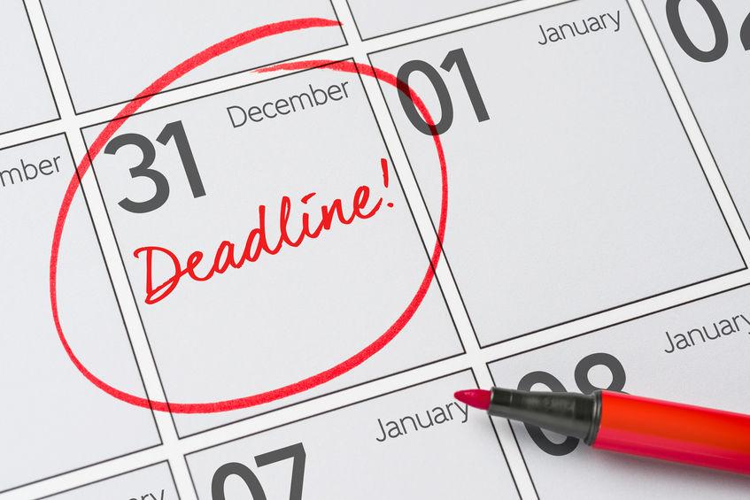 Deadline Written On A Calendar December 31 - Kevin Hogan for Turning Stone October Calendar 2022