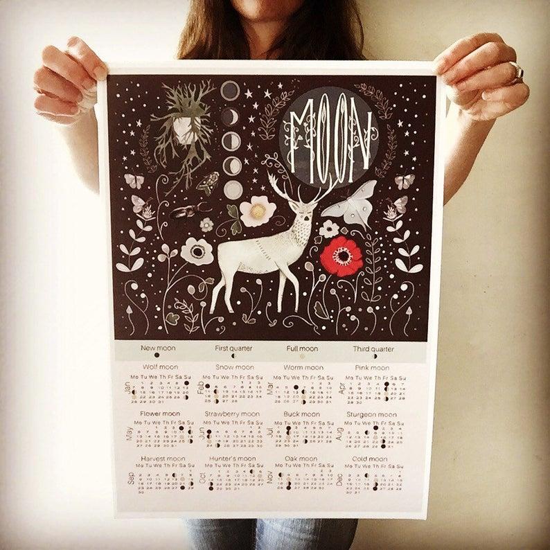 Deer Calendar Moon Phase inside 20222 Lunar Hunting Calendar