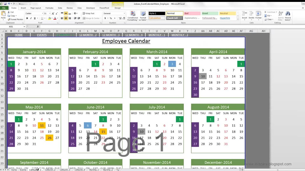 Event Calendar Maker (Excel Template) - Youtube within Export Date In Excel To Calendar