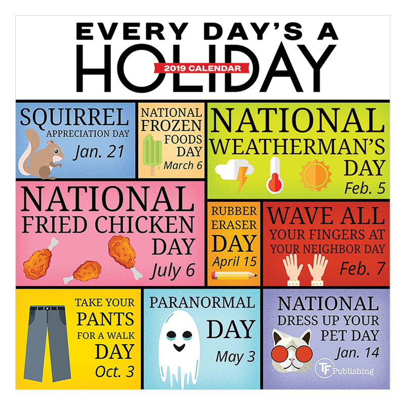 Every Day'S A Holiday 2019 Mini Wall Calendar - Franklin throughout Every Day Holiday Calendar