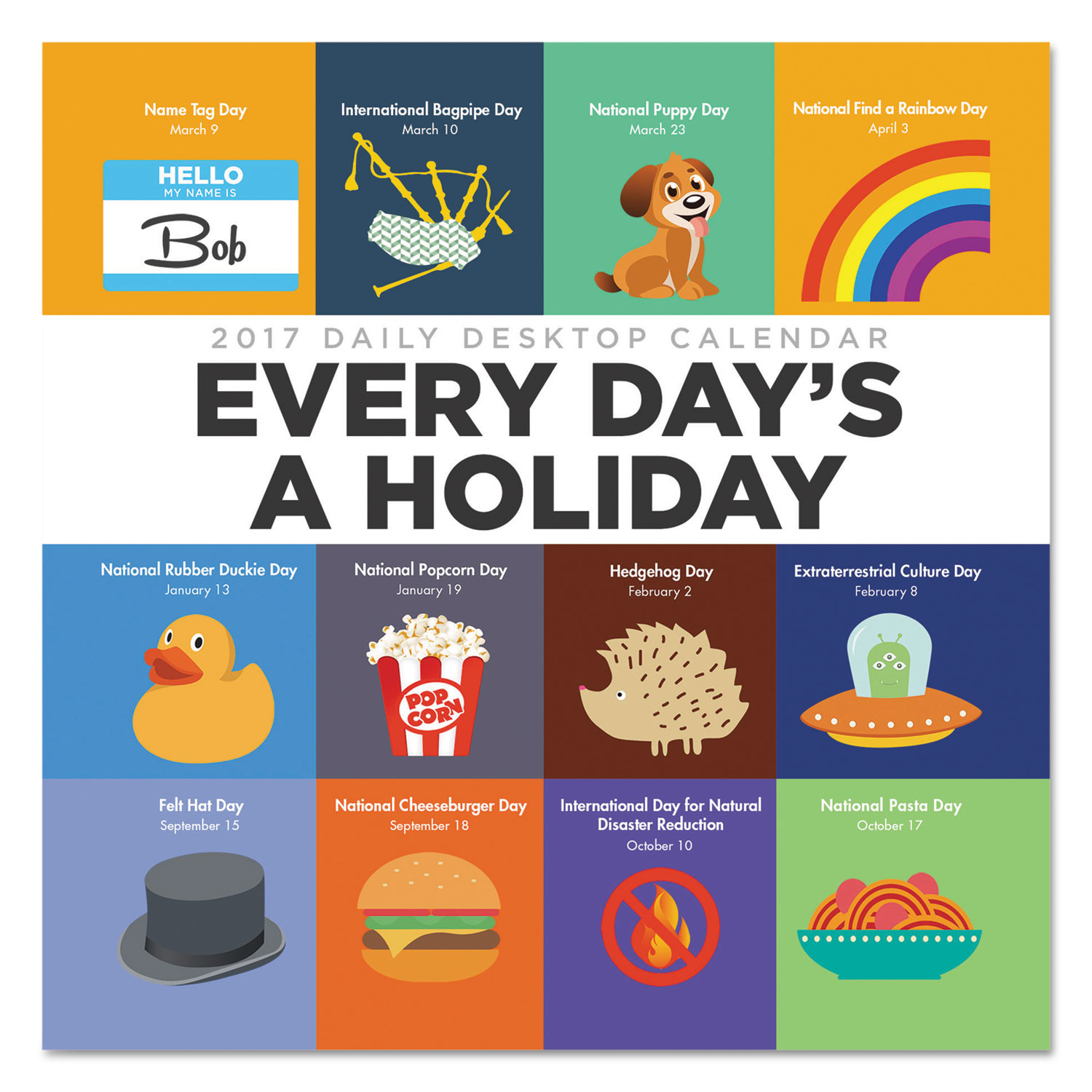 Every Day'S A Holiday Box Calendar, 5 1/2 X 5 1/2, 2017 intended for Every Day Holiday Calendar