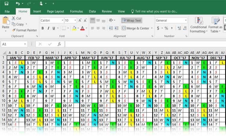 Excel Shift Calendar   Shift Calendar with regard to Excel Convert To Calendar