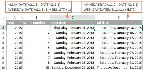 Excel Weeknum Function - Convert Week Number To Date And regarding How To Convert Xcel Doc To Calendar
