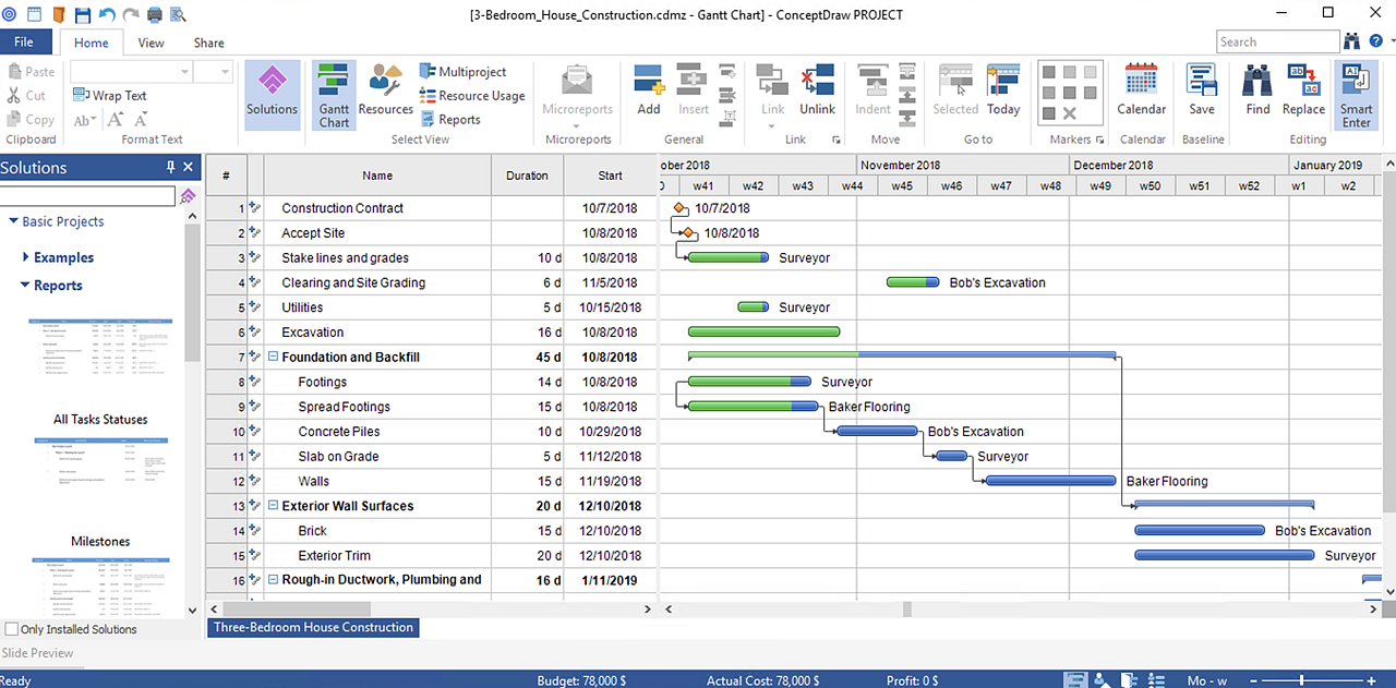 Exporting Project Data From Conceptdraw Project Into Ms intended for Export Excel Data To An Excel Calendar