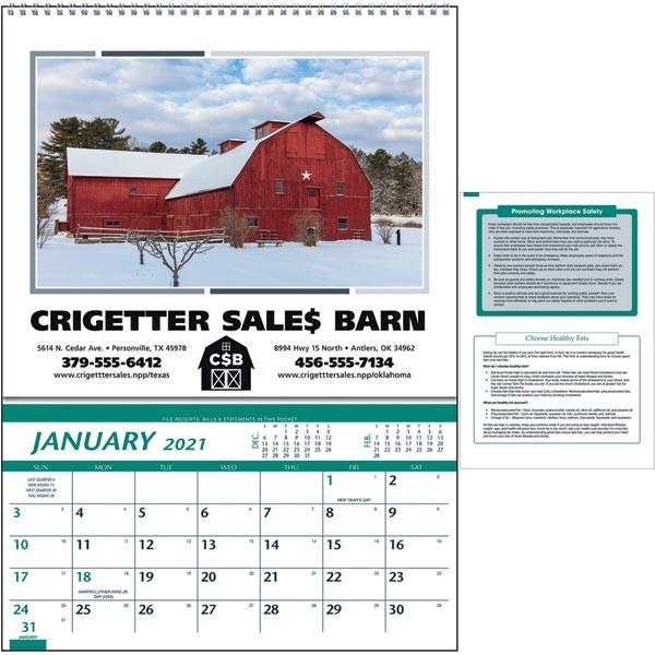 Farm Pocket 2022 Calendar - Item #4000 - Imprintitems throughout Retail 4 5 4 Calendar 2022