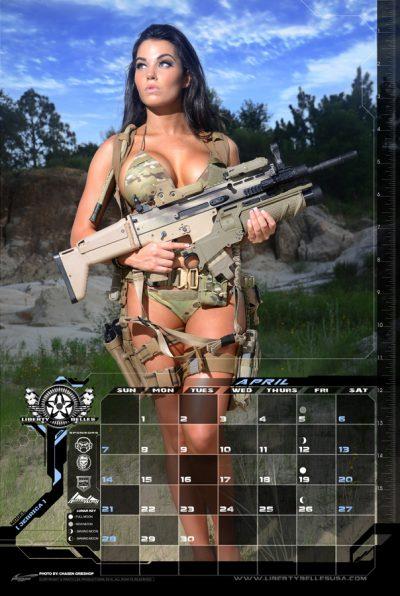 Feature: Girls With Guns Calendars 2019 - Girls With Guns throughout Female Models Calendar 2022