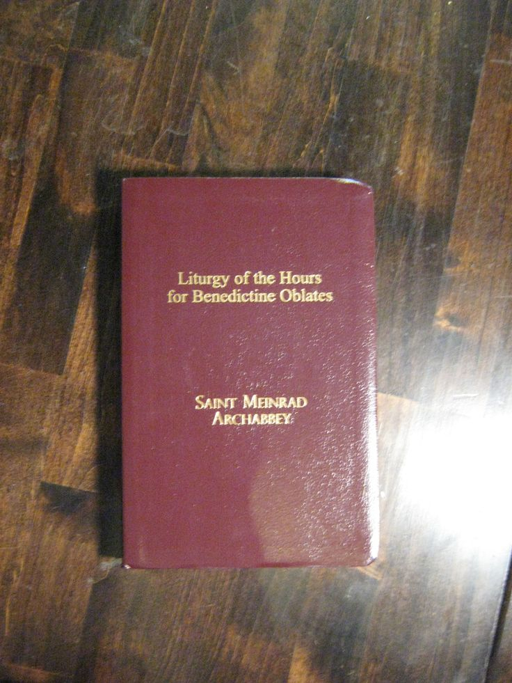 Featured Books - Liturgy Of The Hours For Benedictine Oblates - Leather Cover - 2009- $195 within Liturgy Of The Hours Printable