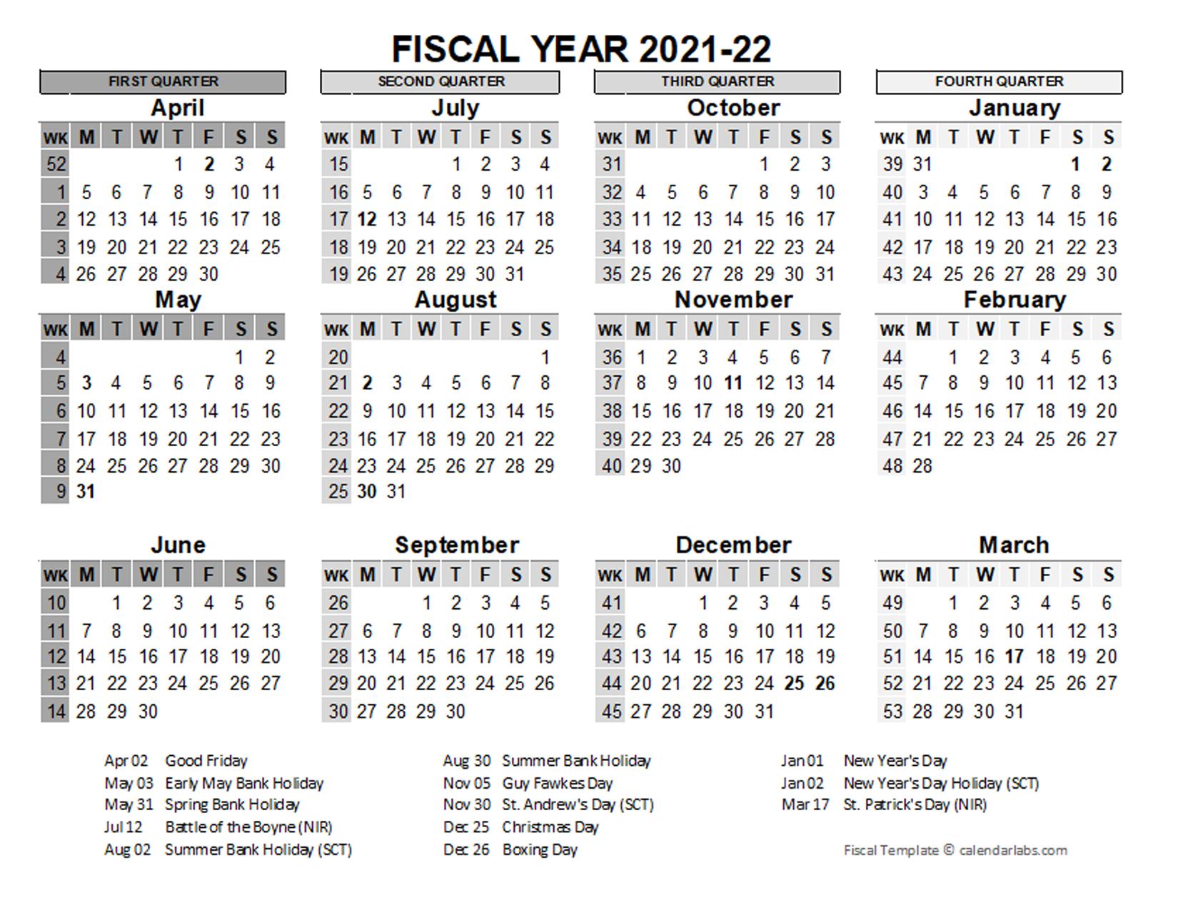 Fiscal Year Calender Print October | Calendar Printables within Walmart Fiscal Calendar For 2022