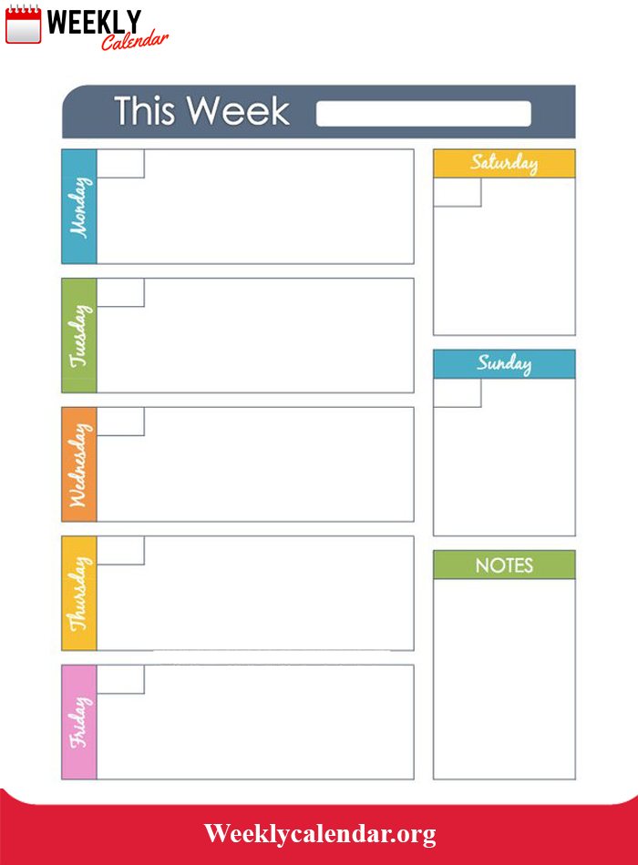 Free Blank Printable Weekly Calendar 2021 Template In Pdf   Weekly Calendar in Can I Convert An Excel Doc To A Calendat