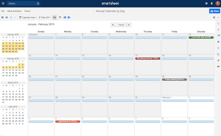 Free, Printable Excel Calendar Templates For 2019 & On throughout Turn Excel Spreadsheet Into Calendar