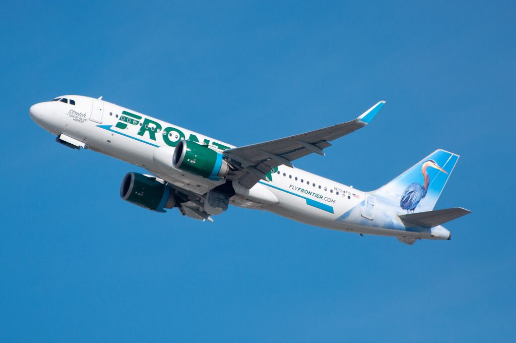 Frontier Airlines A320-251N Departing Lax On December 20 for Frontier Airlines Calendar For December
