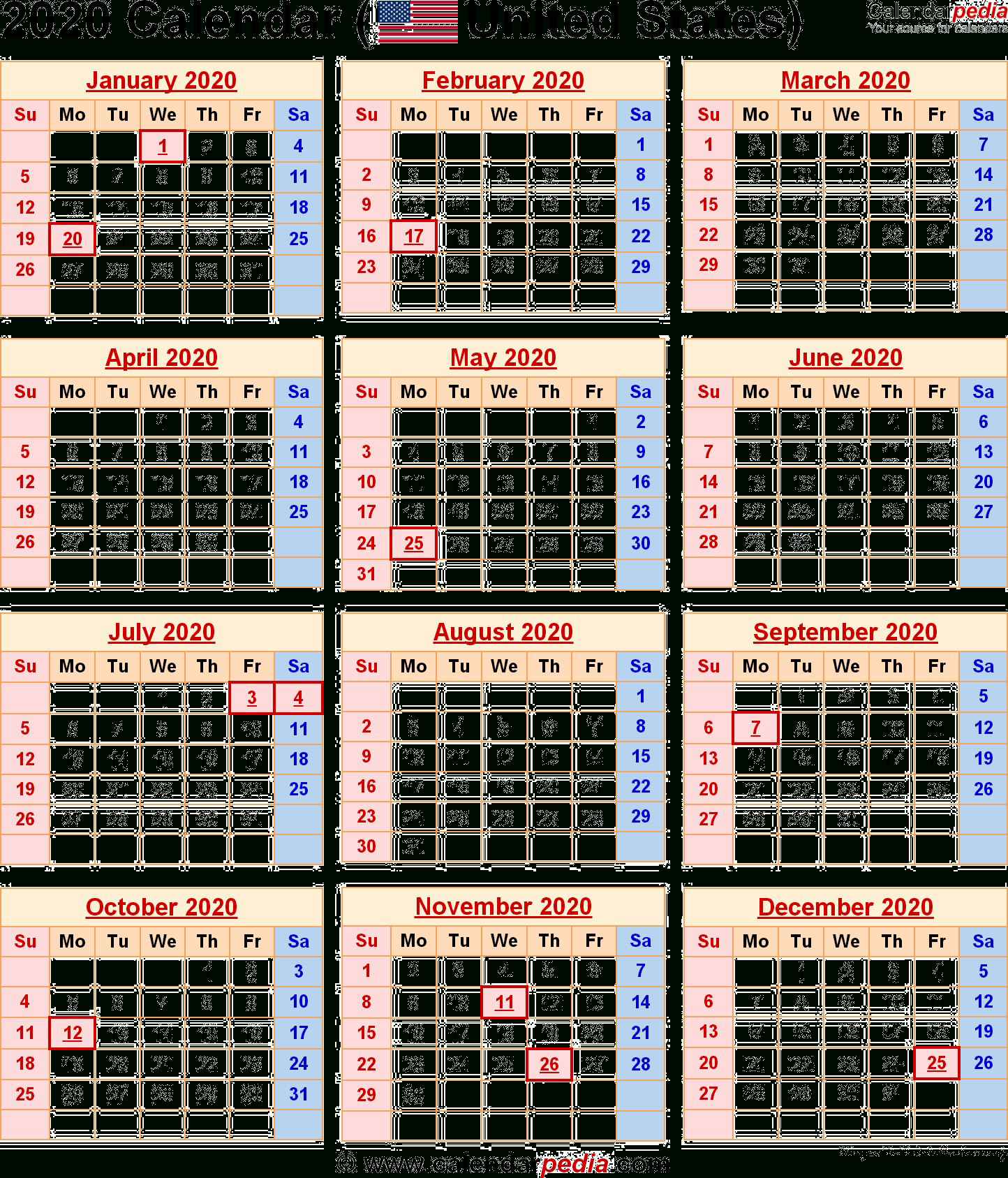 Government Calendar 2020 With Holidays   Calendar Template inside 2022 Federal Calendar Opm