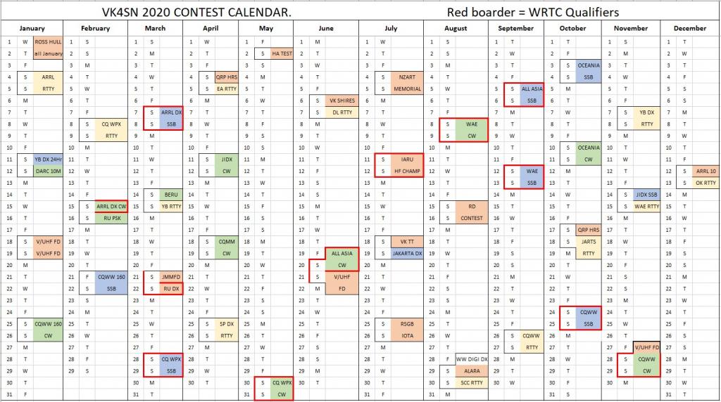 Ham Radio Contests Calendar - Calendar Template 2021 intended for Nc District And Superior Court Query Calendar