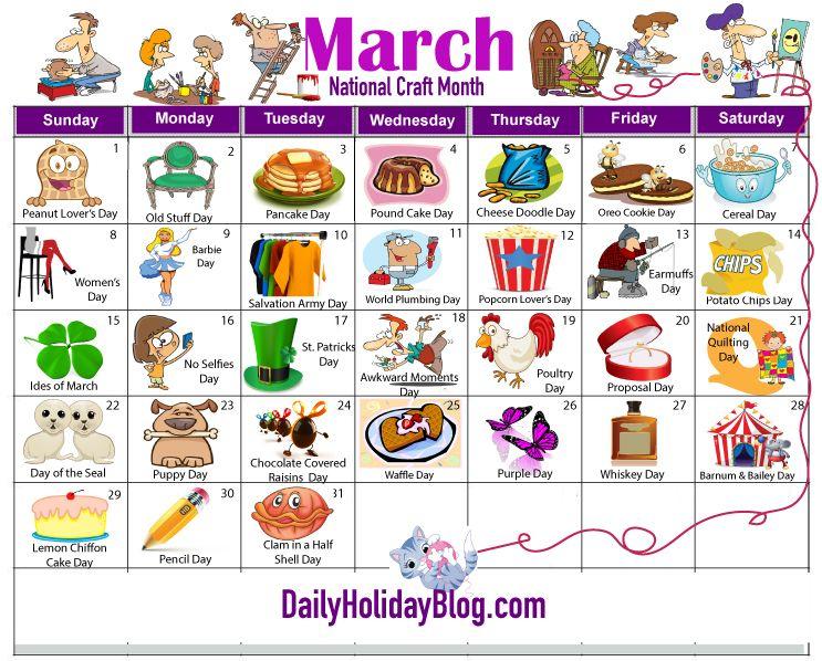 Holiday Calendar, Wacky Holidays, Special Day Calendar throughout Everyday Is A Holiday Calendar