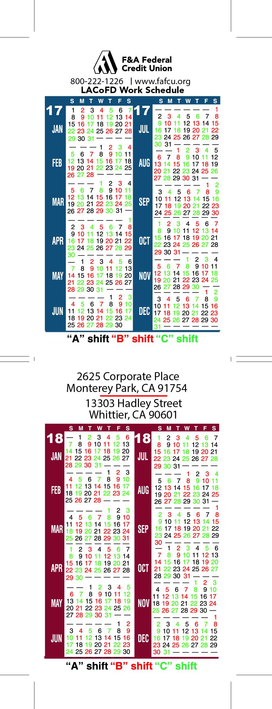 Houston Fire Department Shift Calendar   Printable in 2022 Hfd Shift Calendar