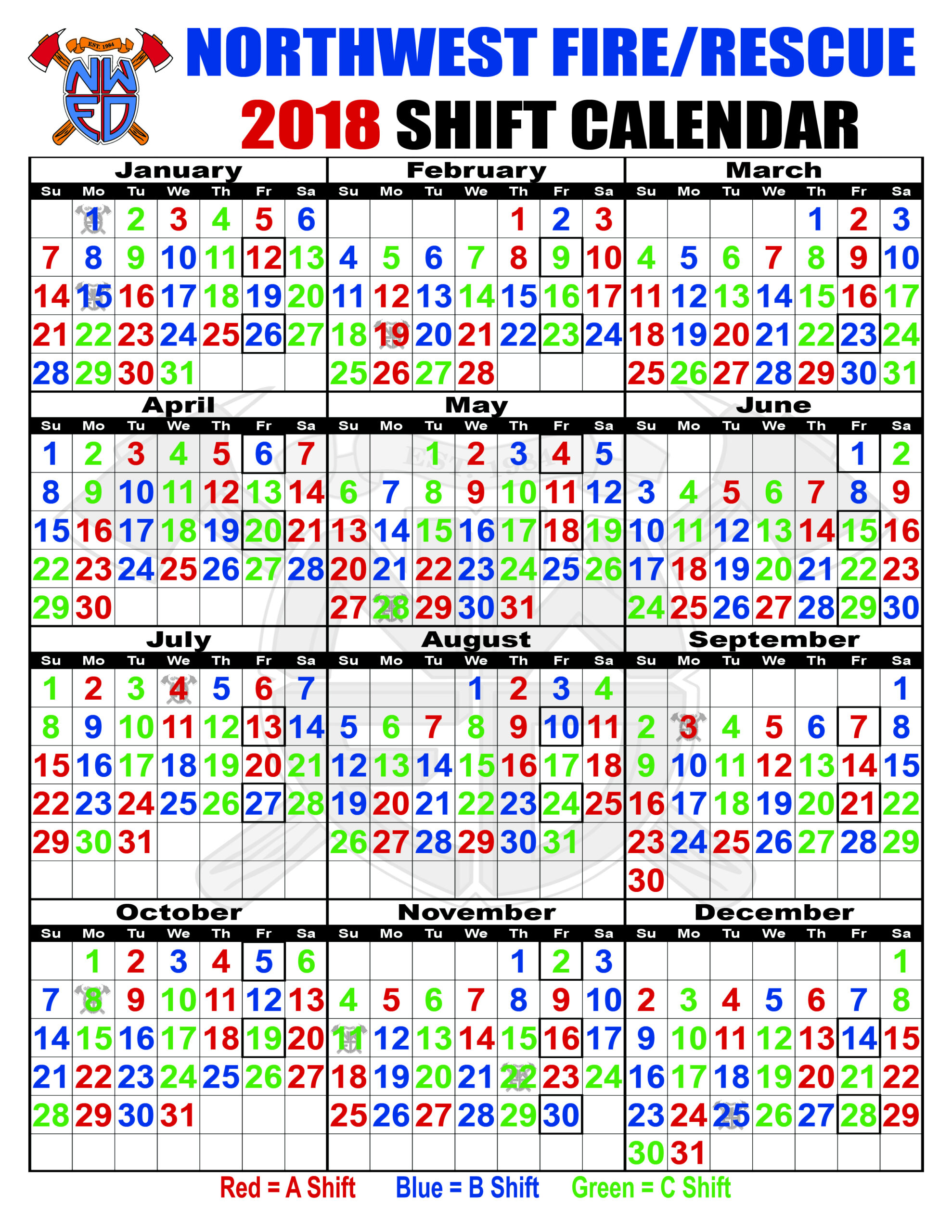 Houston Fire Department Shift Calendar | Printable regarding 2022 Hfd Shift Calendar