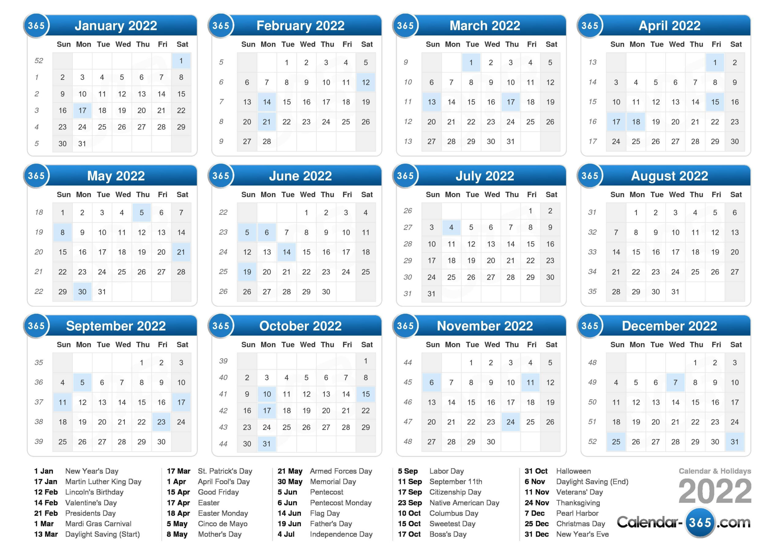 How Many Days In 2022 How Many Weeks In 2022 | Qualads regarding Walmart Fiscal Calendar For 2022