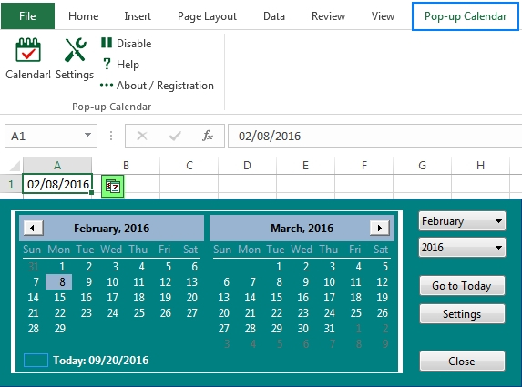 How To Add Calender Drop Down In Excel Image   Calendar in Formate Excell To Calendar