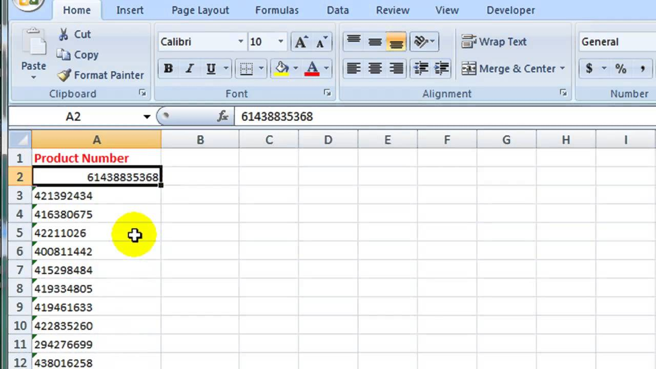 How To Convert Text To A Number In Excel 2007 - Youtube throughout Progra To Convert Schedule To Excel
