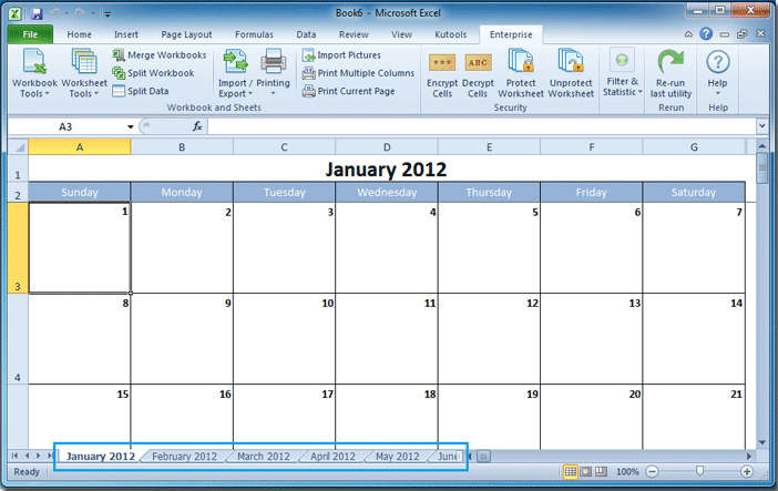 How To Create A Calendar In Excel? in Excel Convert To Calendar