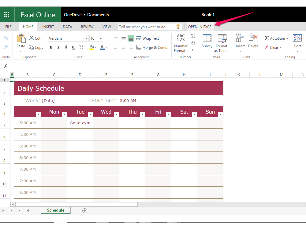 How To Create A Weekly 24 Hour Calendar With Excel   Techwalla in Can I Convert An Excel Doc To A Calendat
