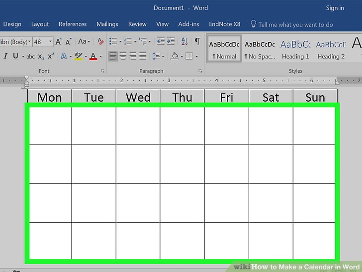 How To Make A Calendar In Word (With Pictures) - Wikihow throughout How To Convert Xcel Doc To Calendar