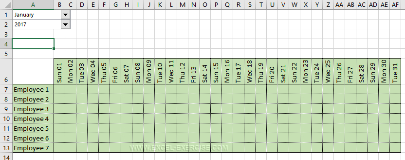 How To Make Automatic Calendar In Excel pertaining to Excel Convert To Calendar