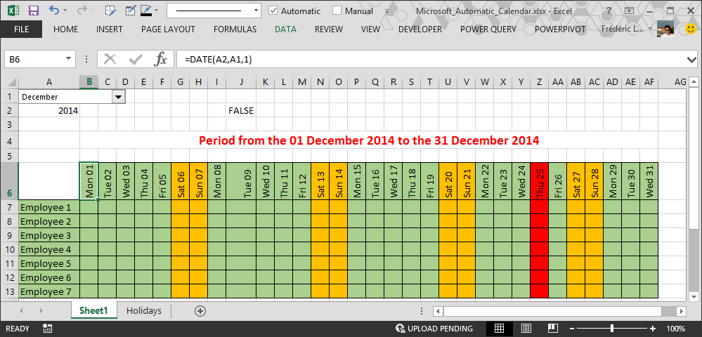 How To Make Automatic Calendar In Excel regarding Export Excel Worksheet Into A Calendar