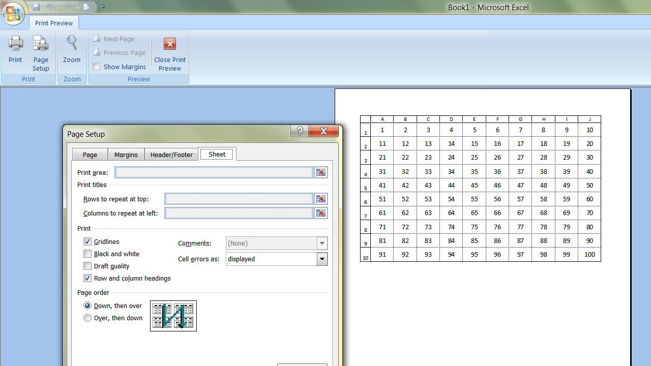 How To Print The Gridlines In Microsoft Excel With Regard intended for Export Excel Worksheet Into A Calendar