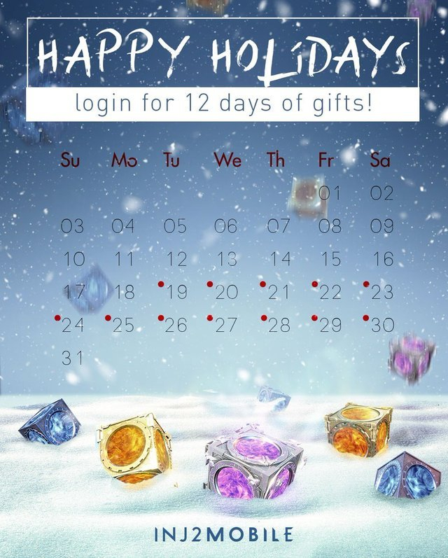 Injustice 2 — Our Holiday Calendar Has Begun! Log In Every with regard to Every Day Holiday Calendar