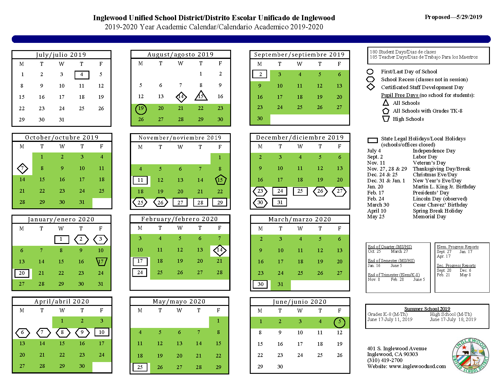 Iusd Calendar 2020 | Exam Calendar within Wake County Year Round Tracks 2022