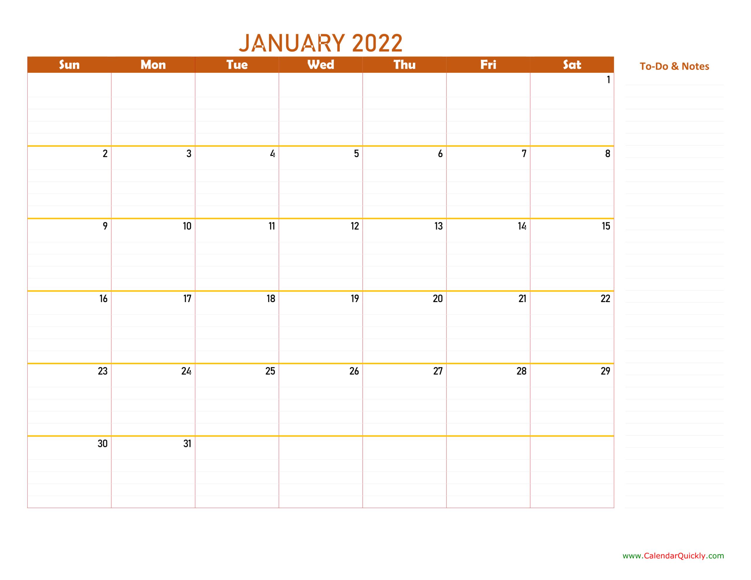 January 2022 Calendar   Calendar Quickly throughout Everyday Is A Holiday Calendar 2022