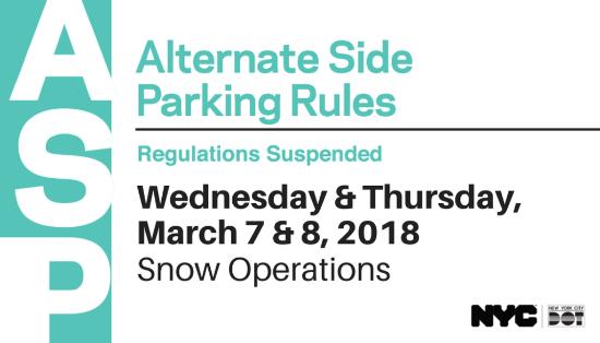 Karmabrooklyn Blog: Alternate Side Parking Suspended For for Altermate Side Parking Regulation Suspension Calender For 2022