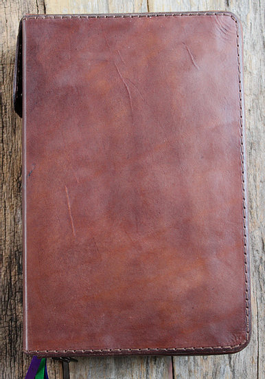 Large Print Medium Brown Breviary Cover | Assumptionleather with Liturgy Of The Hours Printable