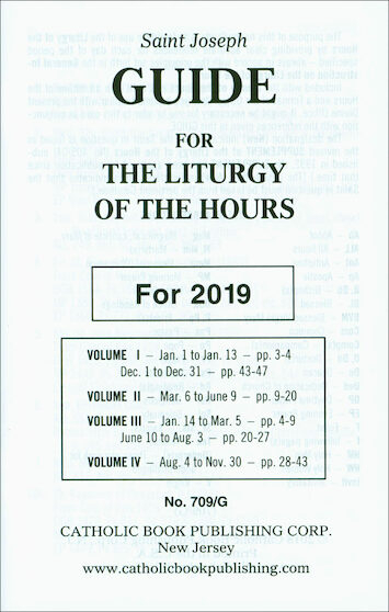 Liturgy Of The Hours: Liturgy Of The Hours Annual Guide 2019, Large Print | Communication Center with Liturgy Of The Hours Printable
