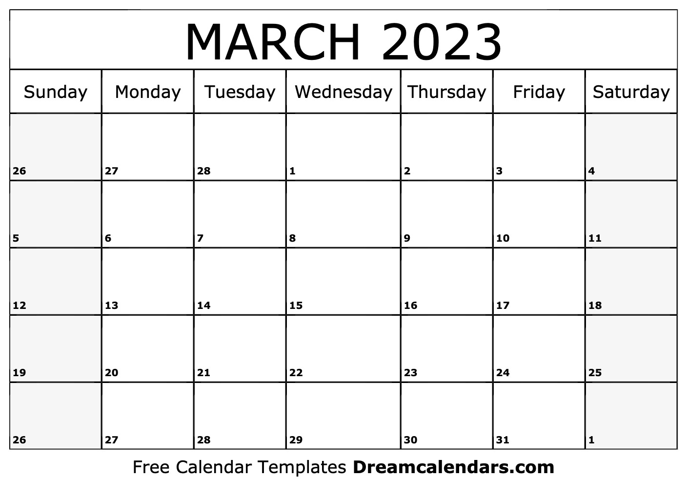March 2023 Calendar | Free Blank Printable Templates in Sunset And Sunrise Calender 2022 2023